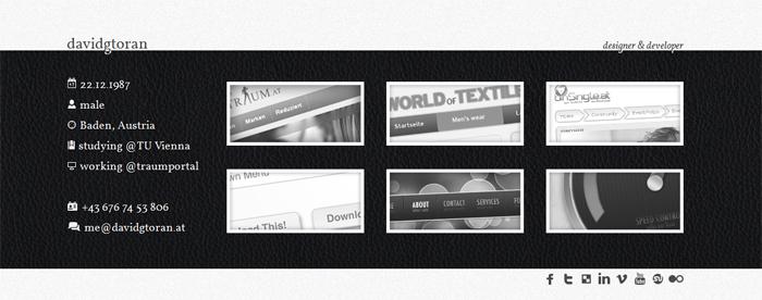 webdesigner portfolio davidgtoran