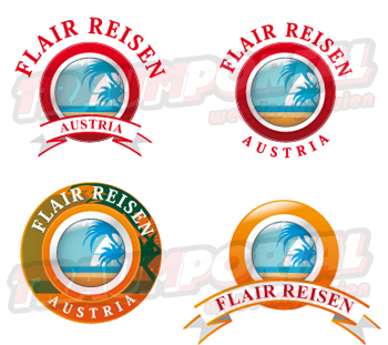 Flair Reisen Logos