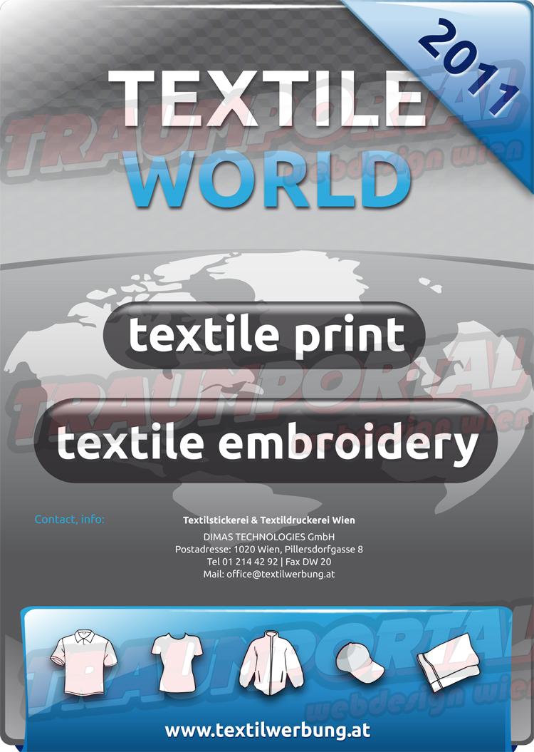 Textilwerbung Broschüre Cover