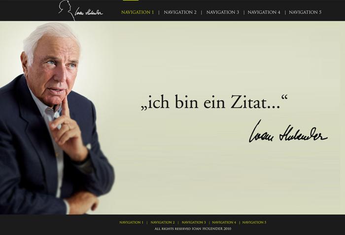 Webseite Holender