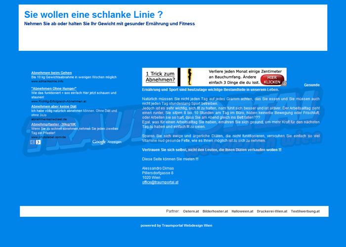 Diät Webseite