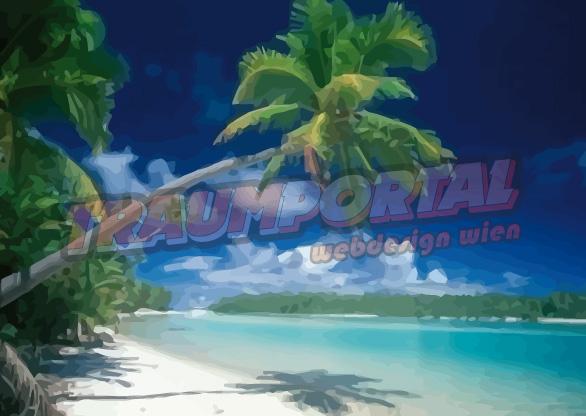Palme Strand Meer Urlaub