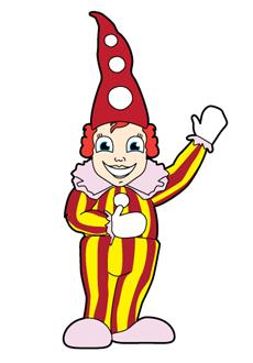 Winkend Clown