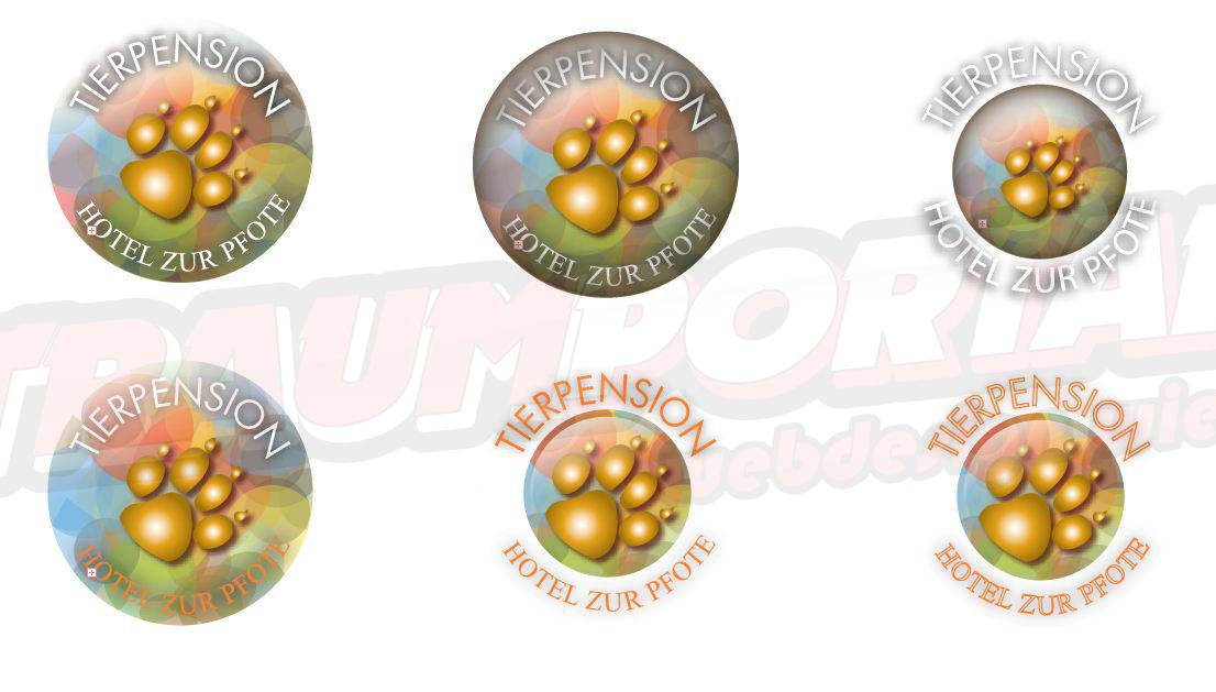 Logos Pfote Tierpension