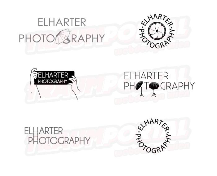 Schirm - Logodesign für Elharter Photography