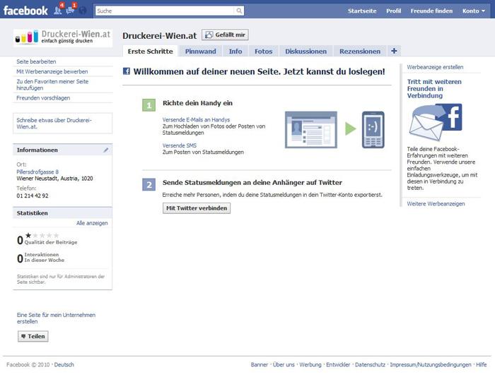 Facebook Druckerei-Wien