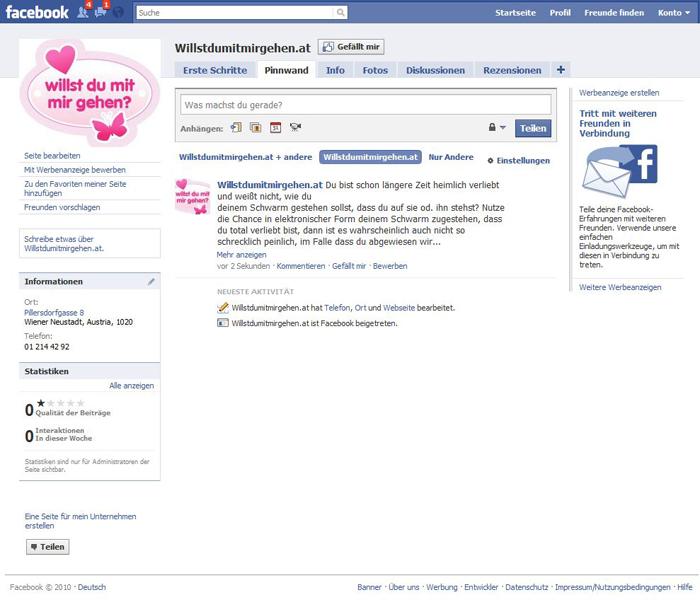Facebook Willst-Du-Mit-Mir-Gehen