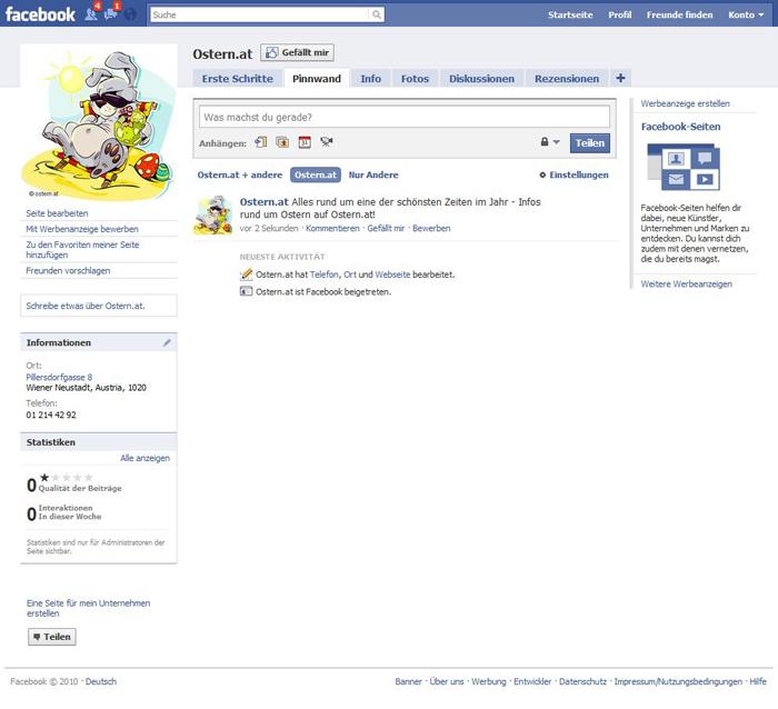 Facebook Ostern