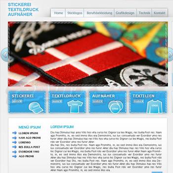 Stickerei Webseite