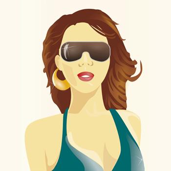 Frau Sonnenbrille