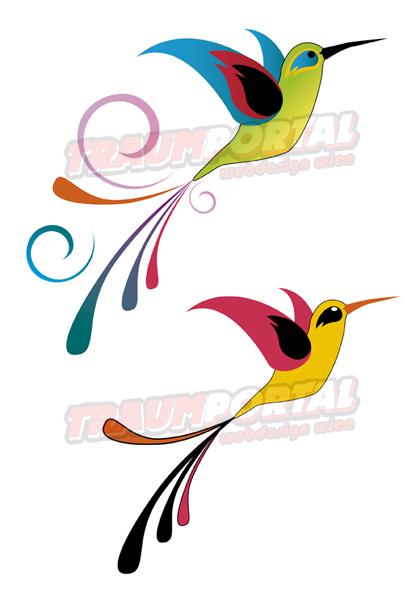 Тату рисунки колибри