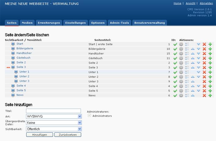 Redaktionssystem Webseite selbst verwalten