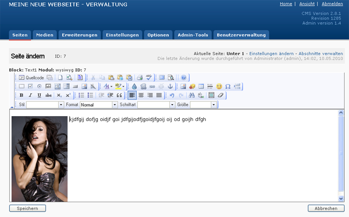 CMS innen | Detaileintrag - Editor