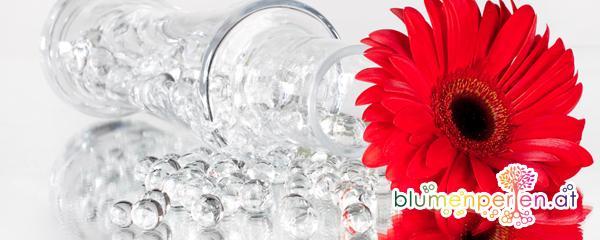 Glasvase Bunt Dekoration Blumenperlen