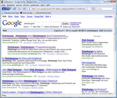 Traumportal top Platziert in der Suchmaschine