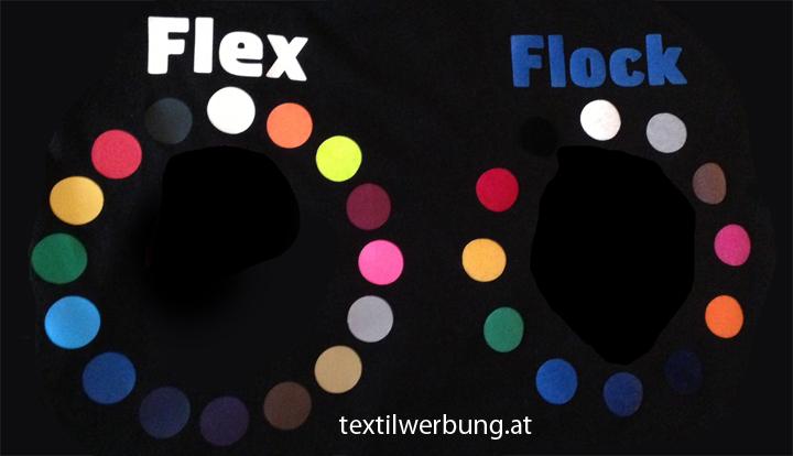 Flock Flex Farben Folien Druck